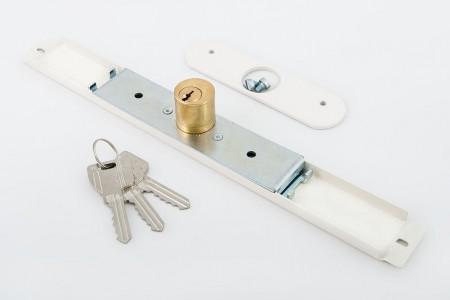 Zamek baskwilowy 3 klucze z płytką BEŻOWY - MCM