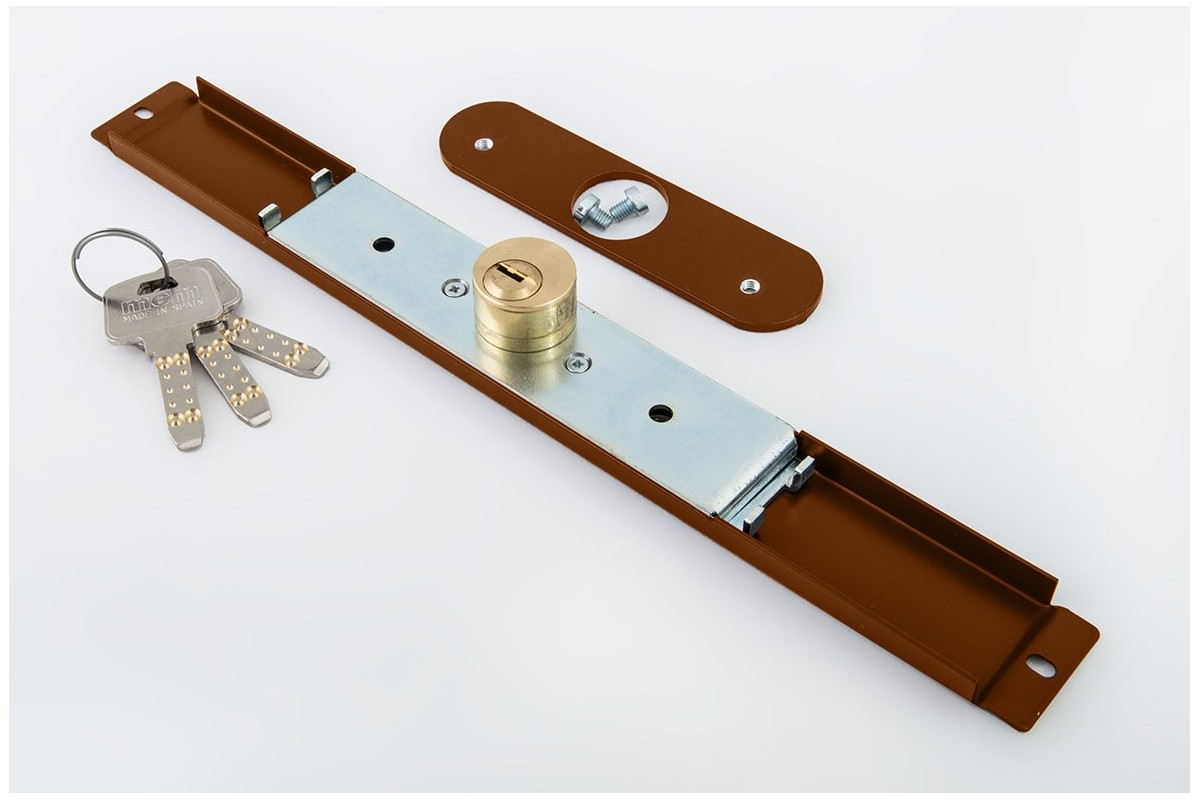 Zamek baskwilowy 3 klucze z płytką ZŁOTY DĄB - MCM