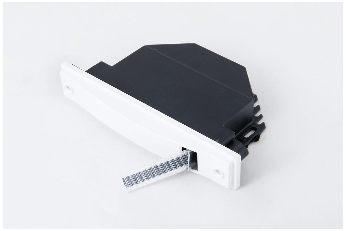 Zwijacz podtynkowy na taśmę 6 m/14 mm (z taśmą) biały