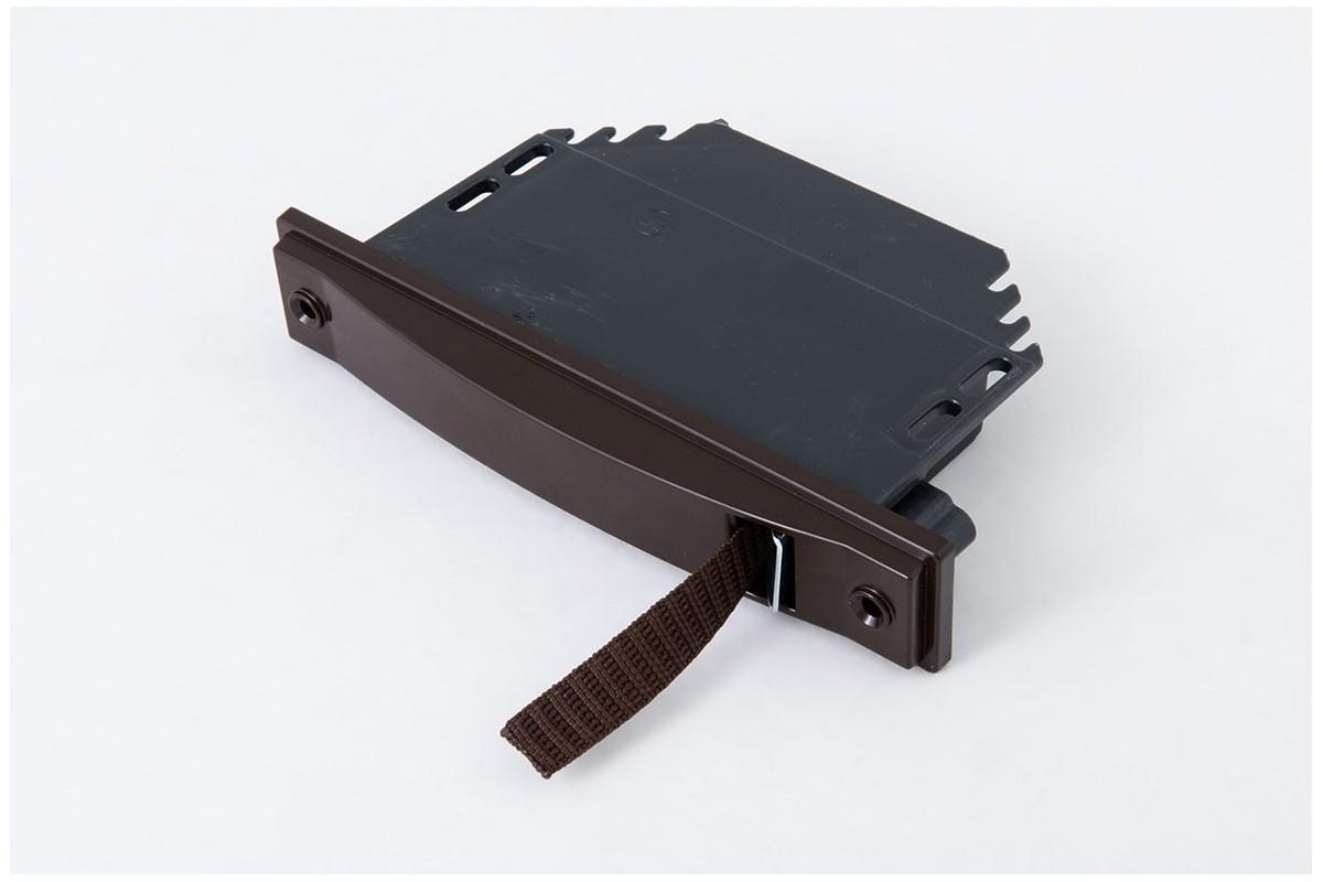 Zwijacz podtynkowy na taśmę 6 m/14 mm (z taśmą) brązowy