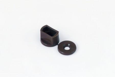 Kołek oporowy 15 mm do listwy dolnej, ORZECH