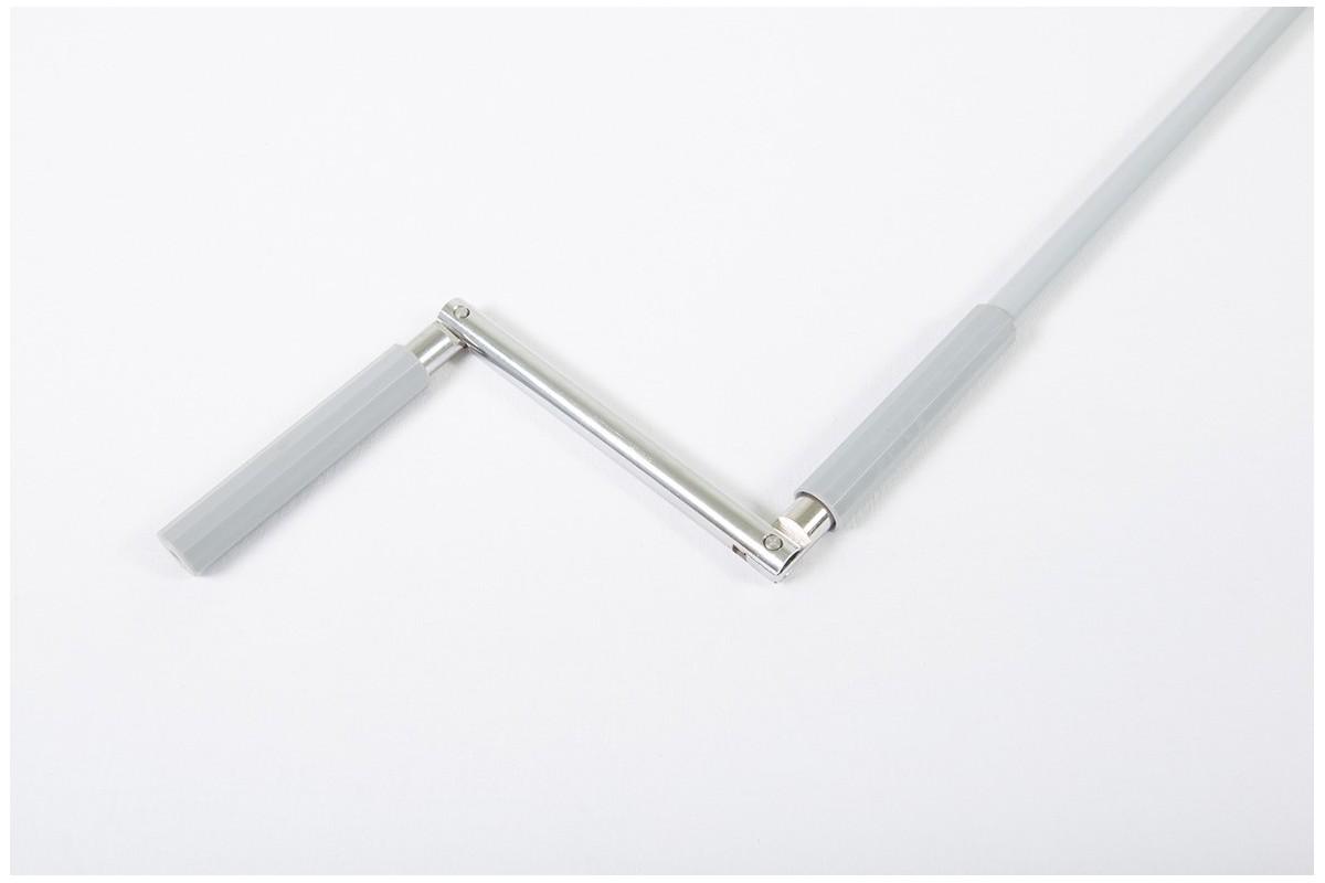 Drążek z korbą stalowy, Ø14 - 1900 mm szary