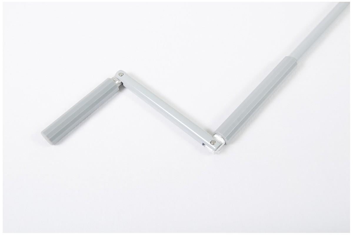 Drążek z korbą aluminiowy, Ø15 - 1500 mm szary
