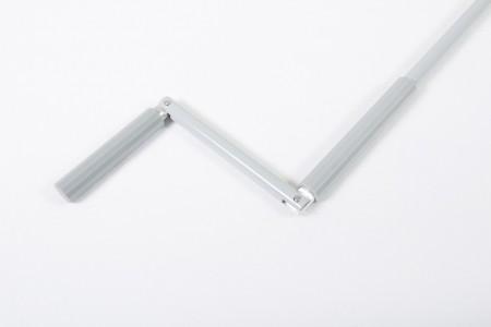 Drążek z korbą aluminiowy, fi 15 - 1900 mm szary