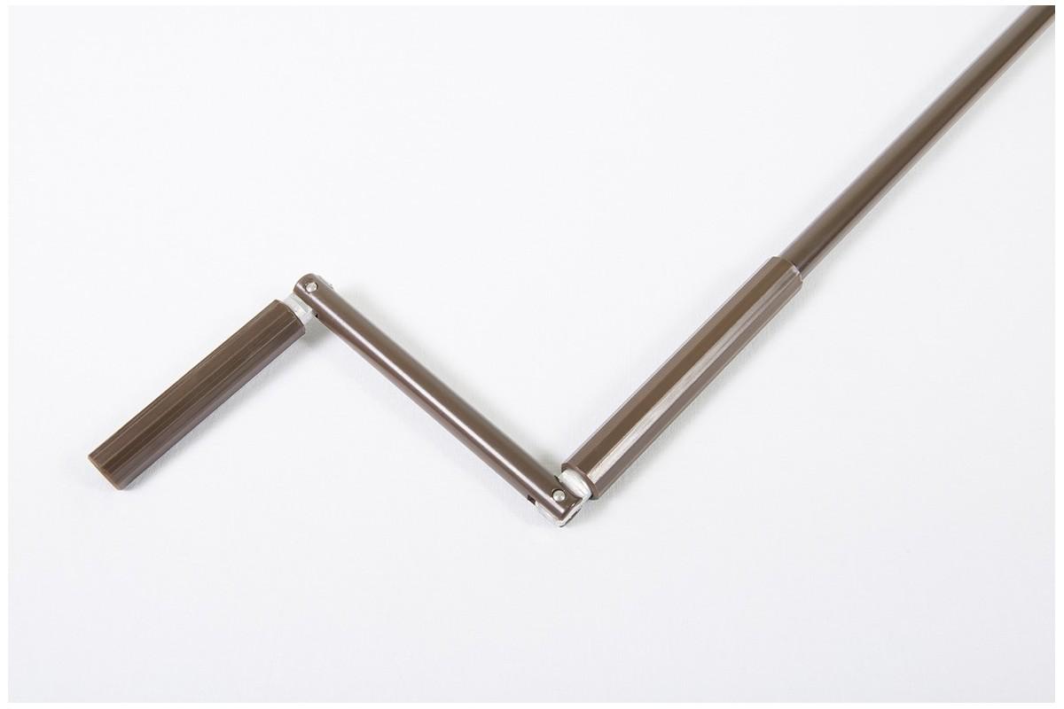Drążek z korbą aluminiowy, Ø15 - 1900 mm brązowy