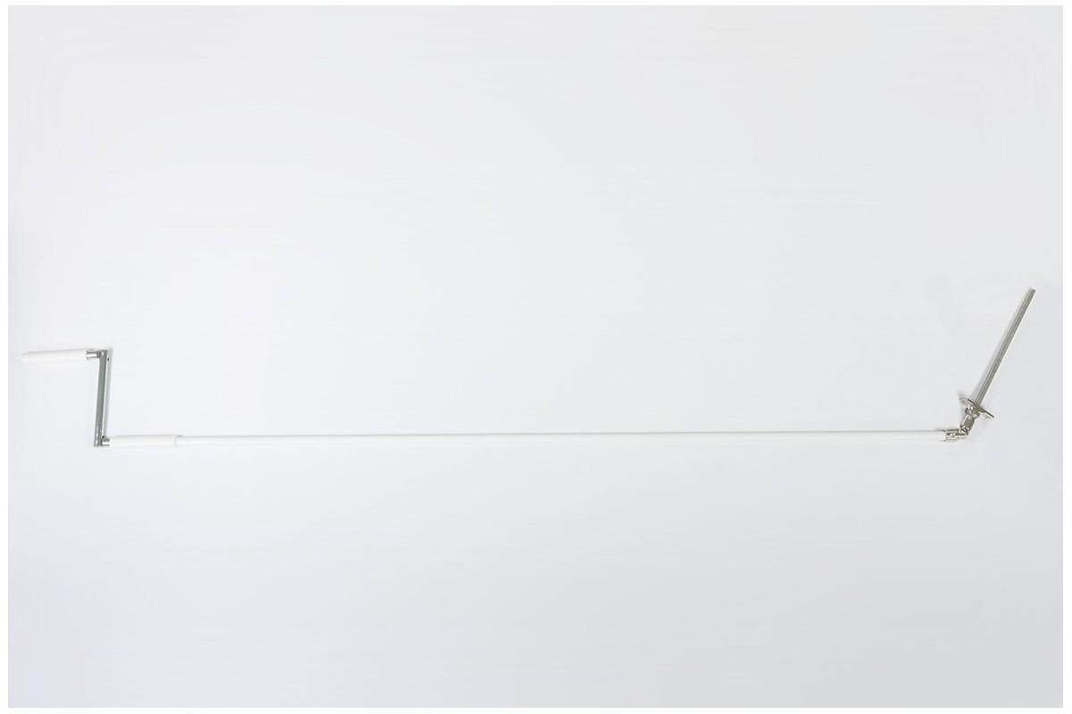 Korba z Cardanem 45° z drążkiem L1500 mm białym