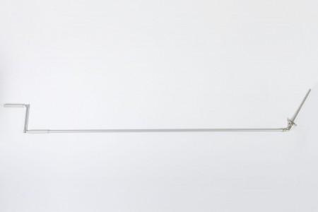 Korba z Cardanem 90° z drążkiem L1500 mm szarym