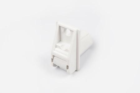 Prowadnica taśmy 14 mm rurkowa z otworem na śrubkę biała