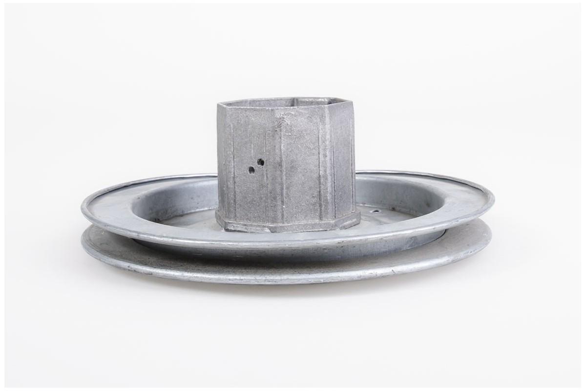 Koło nawojowe stalowe z obsadką Ø60 i łożyskiem na linkę stalową - Ø180