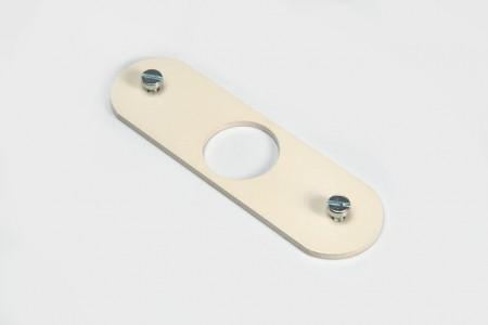 Płytka do zamka z bębenkiem 13 x 28 mm KREM