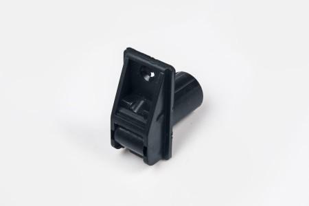 Prowadnica taśmy 14 mm rurkowa z otworem na śrubkę antracyt