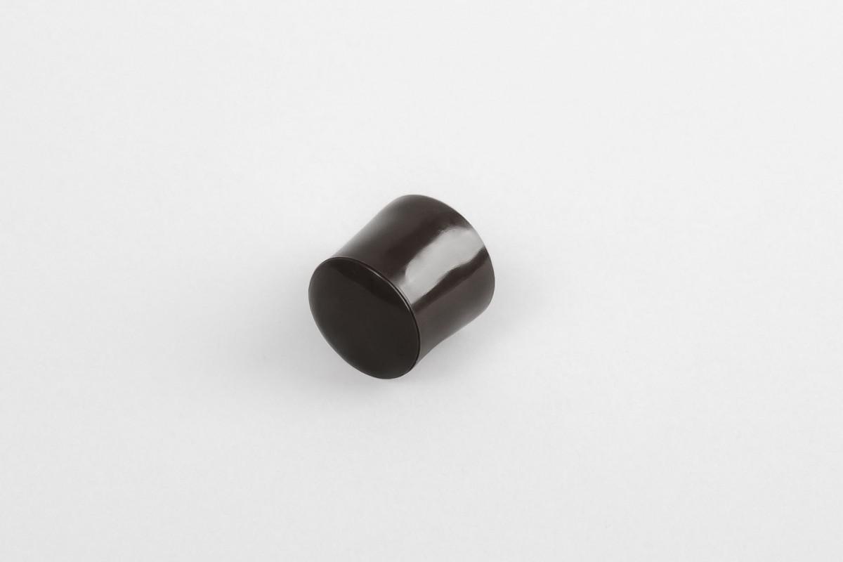 Kołek oporowy 13 mm z zaślepką, ciemny brąz