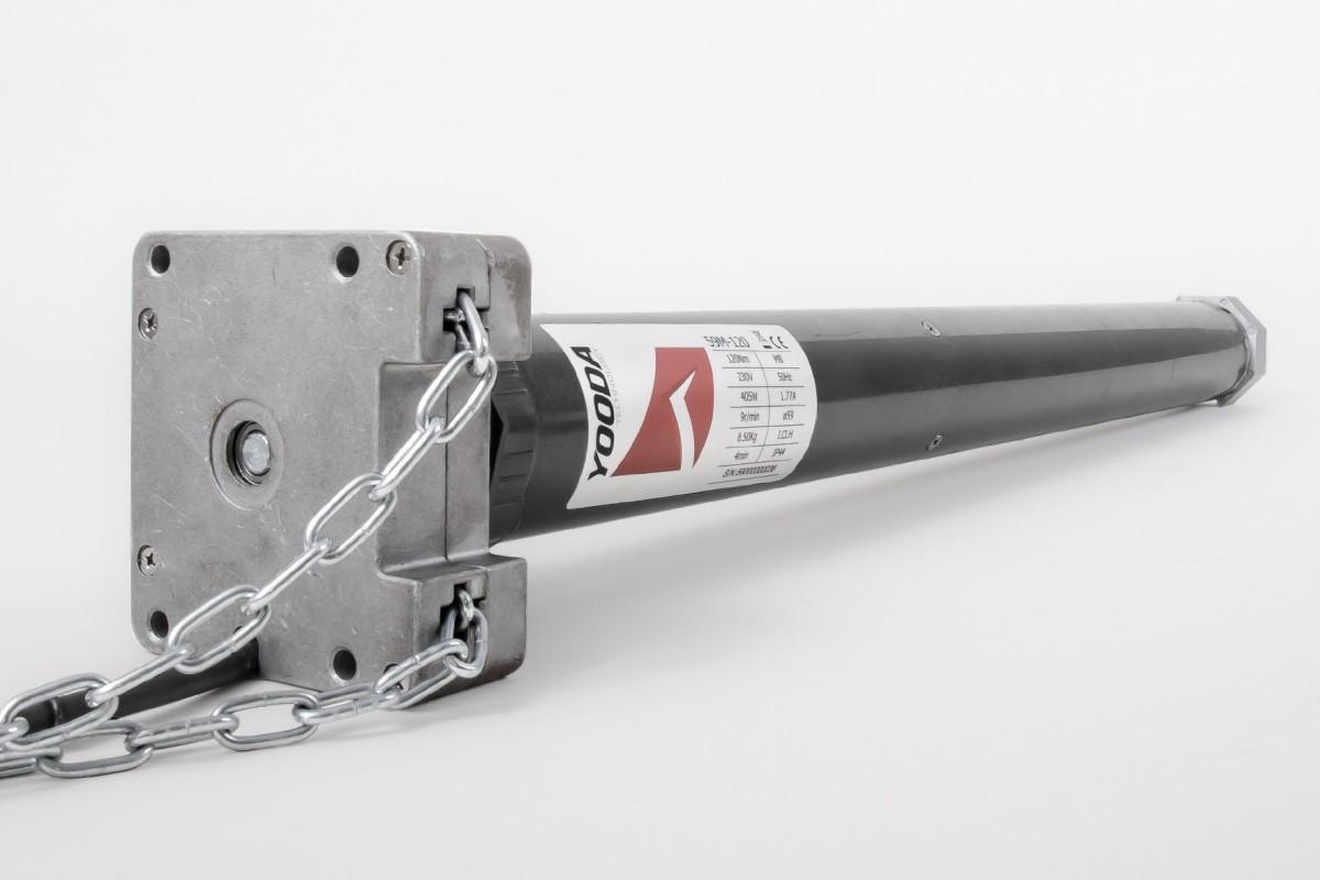 Napęd rurowy seria 59MB, 120 Nm, 9 obr./min. z łańcuchowym awaryjnym otwieraniem