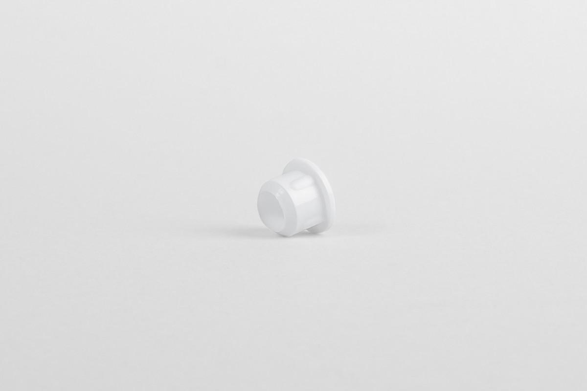 Zaślepka Ø10 bez rozcięcia, biała