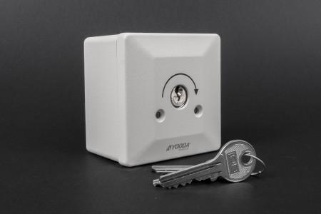 Przełącznik kluczykowy natynkowy, impulsowy do przekaźnika MR2