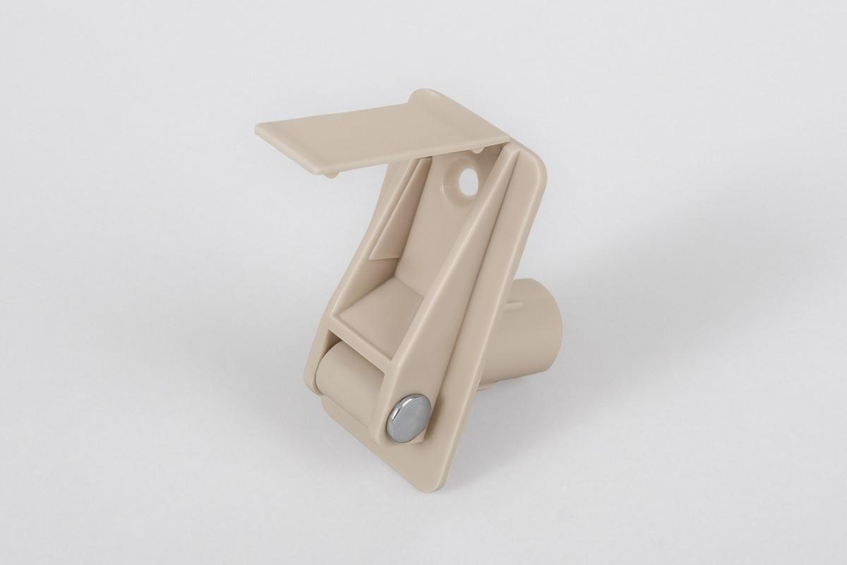 Prowadnica taśmy 14 mm rurkowa z otworem na śrubę i maskownicą, beżowa
