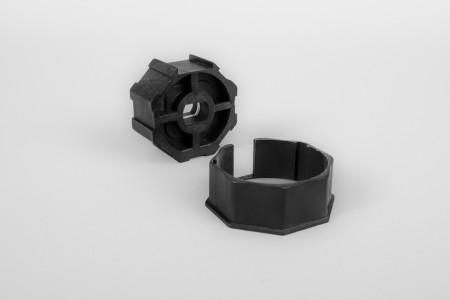 Adapter und Mitnehmer, 8-kant - verwendet mit Antrieb Serie 45 und Welle SW 50