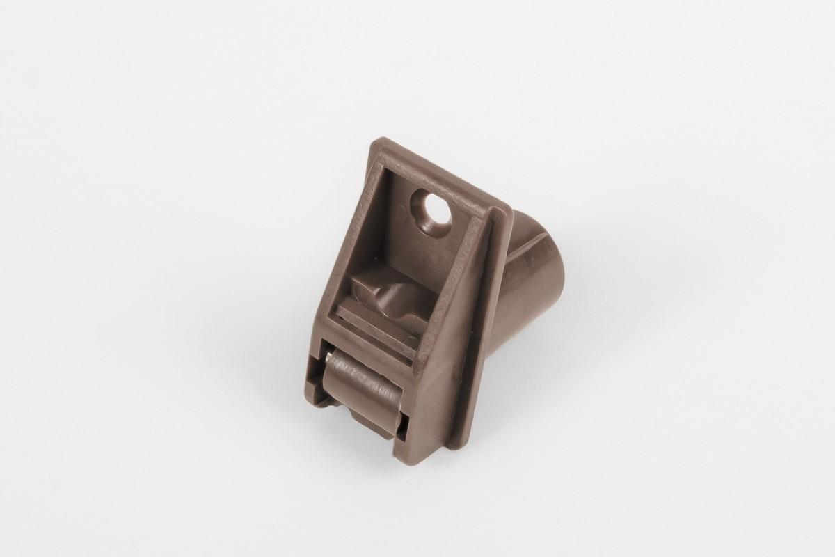Prowadnica taśmy 14 mm rurkowa z otworem na śrubę, jasny brąz