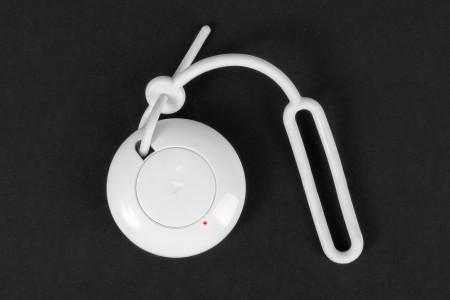 Single-channel YO-YO key-ring remote control, white