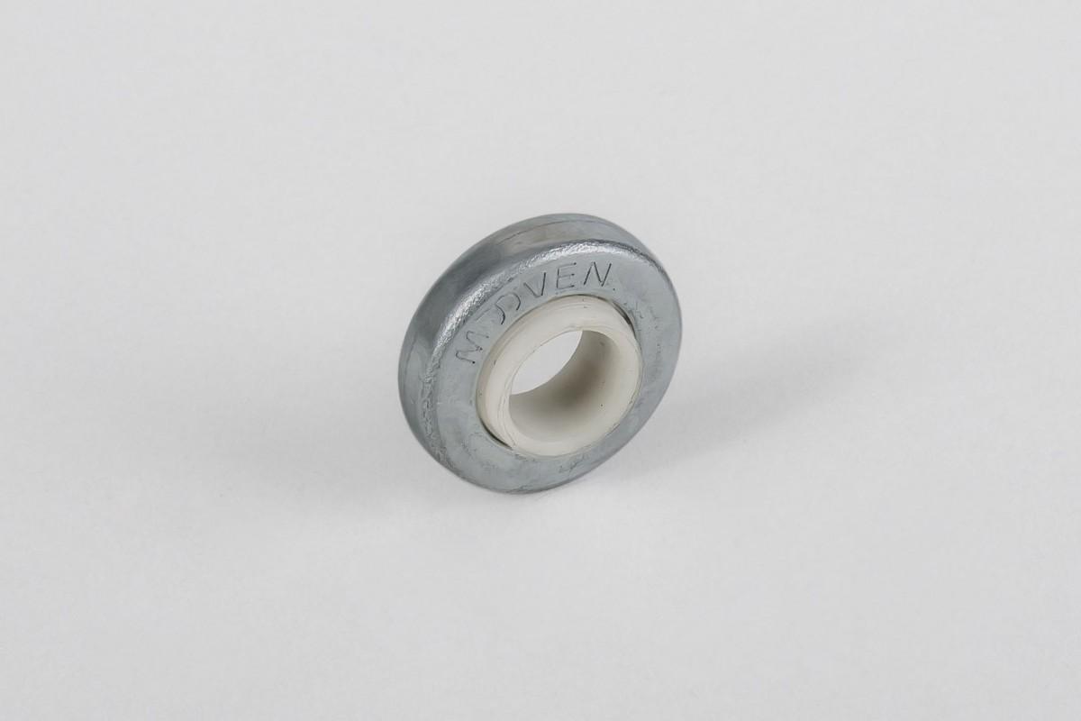 Ø28 / Ø12 bearing with PVC rim and flange