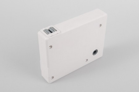 Strap crank box coiler (max. load 20 kg) with strap, white