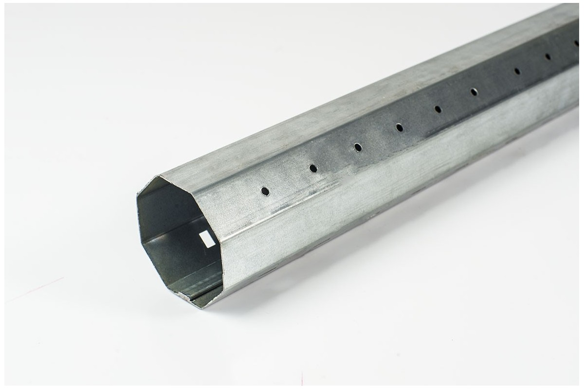 Steel octagonal Ø60 x 1.0 mm tube with an internal seam (6 m)