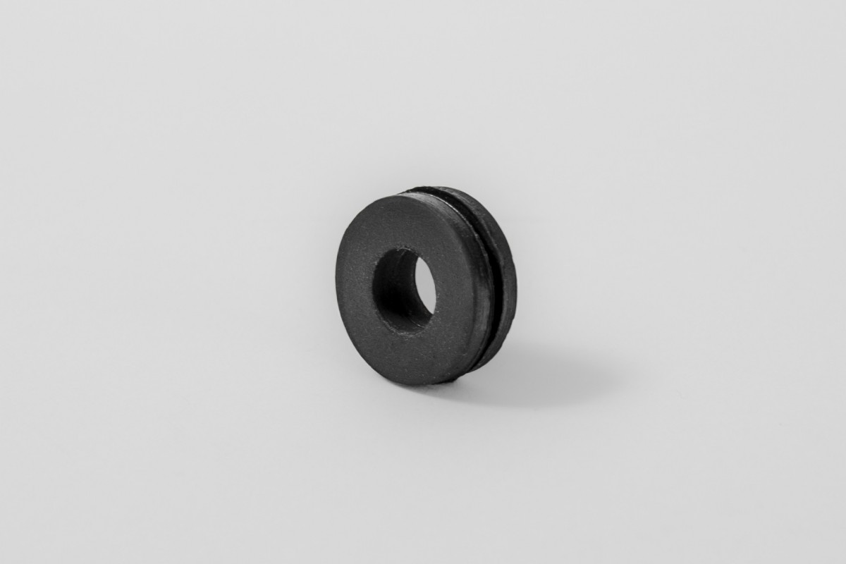 Rubber cover for PVC roller guide spring