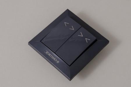 Przełącznik klawiszowy podtynkowy astabilny CORTINO, antracyt
