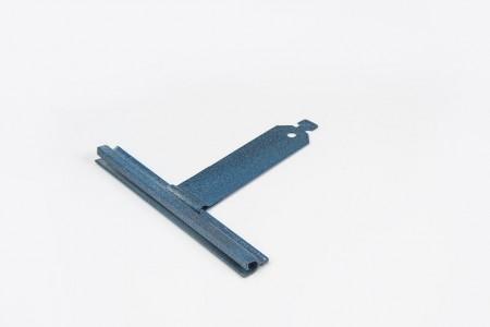 Varnished spring hanger ALU mortise without cut L80mm for 37-52 prof.