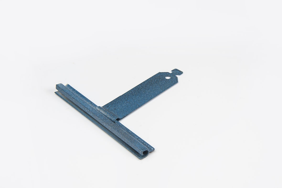 Varnished springy hanger, ALU100 profile, without cut, L80 mm, for 37-52 profiles