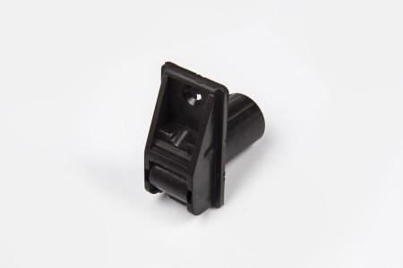 Prowadnica taśmy 14 mm rurkowa z otworem na śrubkę ciemny brąz