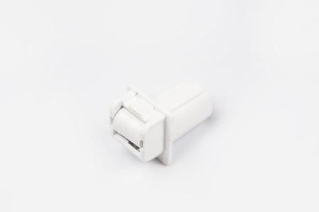 Prowadnica taśmy 14 mm rurkowa bez otworu na śrubkę biała