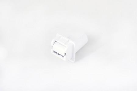 Prowadnica taśmy 14 mm rurkowo-szczot. bez otworu na śrubkę biała