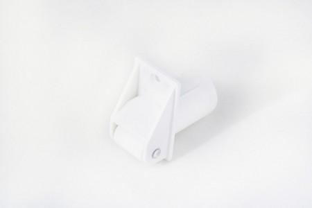 Prowadnica taśmy 22 mm rurkowa z otworem na śrubkę biała