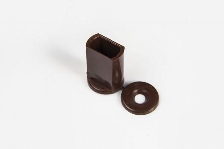 Kołek oporowy 28 mm do listwy dolnej, ORZECH