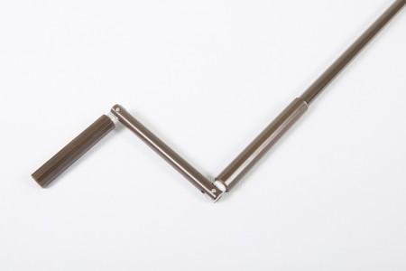 Drążek z korbą aluminiowy, fi 15 - 1900 mm brązowy
