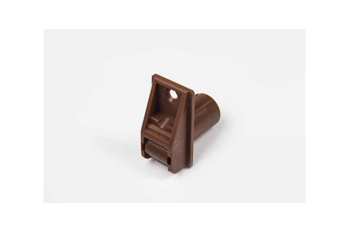 Tubular belt runner (22 mm) with screw thread, brown