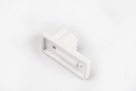 Ogranicznik do prowadnicy 22x53, biały