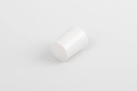 Kołek oporowy 28 mm z zaślepką, biały