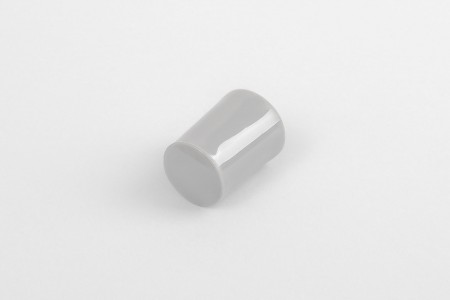 28 mm stopper with hole plug, grey