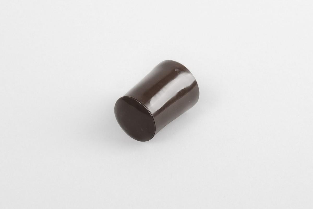 Kołek oporowy 28 mm z zaślepką, orzech