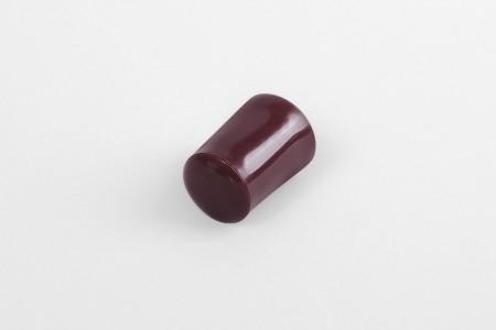 Kołek oporowy 28 mm z zaślepką, bordowy