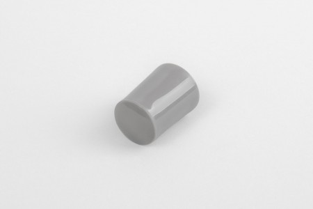 28 mm stopper with hole plug, dark grey