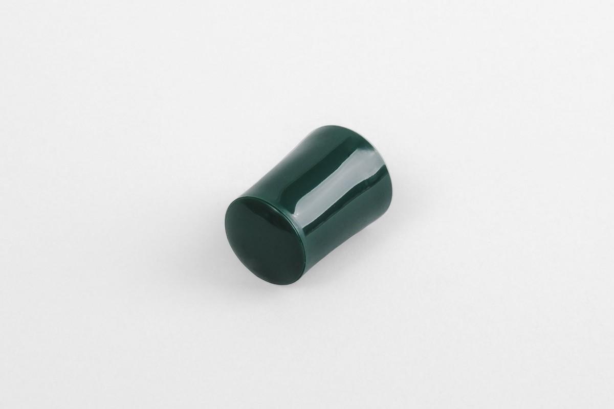 Kołek oporowy 28 mm z zaślepką, zielony