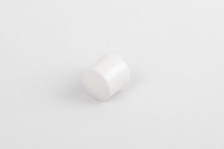 Kołek oporowy 13 mm z zaślepką, biały