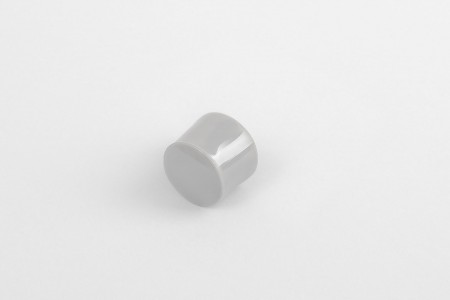 13 mm stopper with hole plug, grey