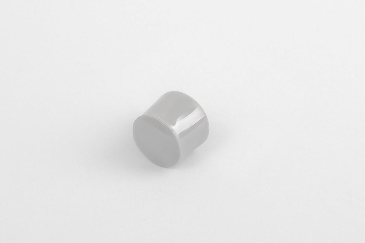 Kołek oporowy 13 mm z zaślepką, szary