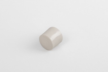 13 mm stopper with hole plug, beige