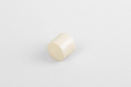 Стопор 13 мм с заглушкой, кремовая