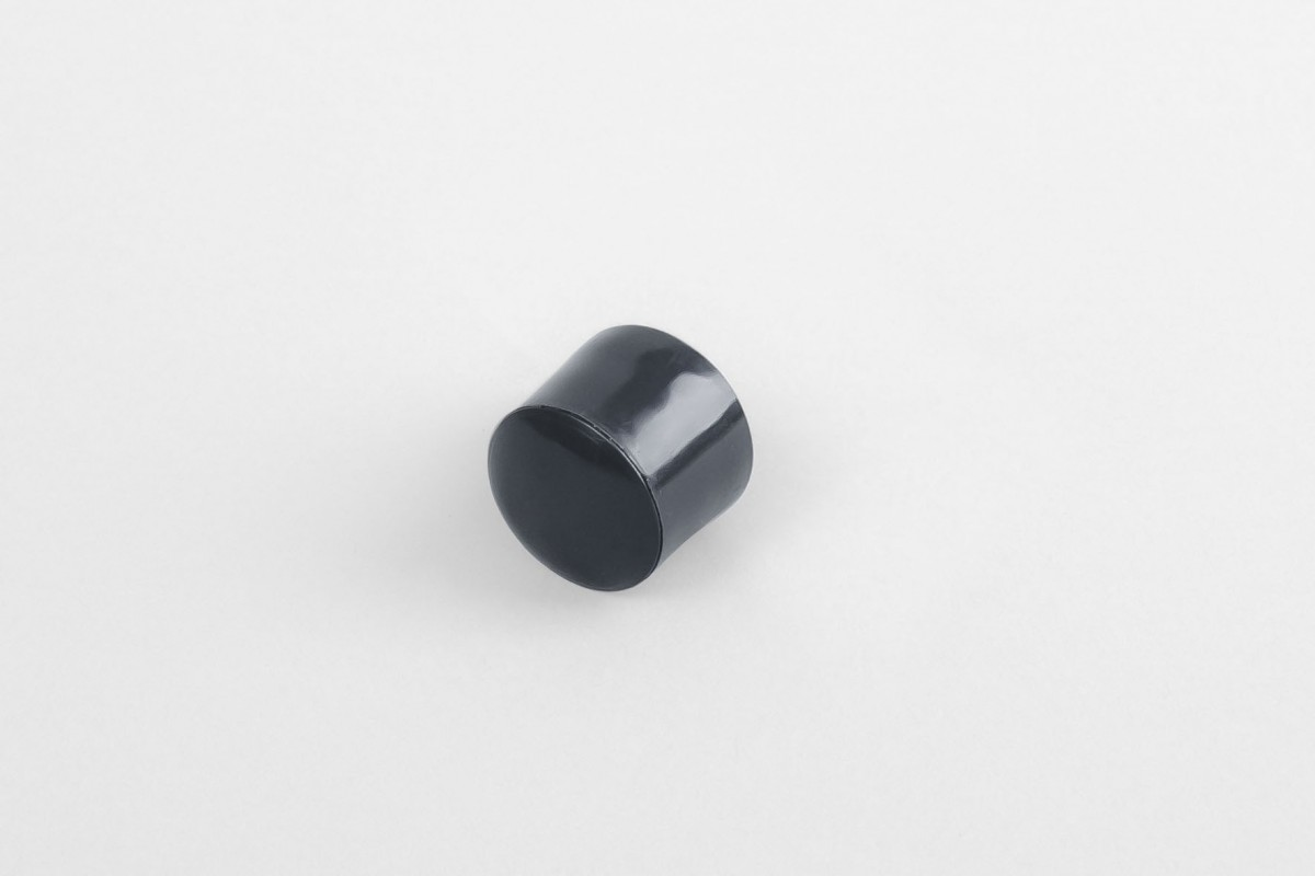 13 mm stopper with hole plug, anthracite